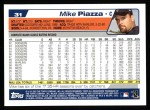 2004 Topps #31  Mike Piazza  Back Thumbnail