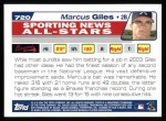 2004 Topps #720   -  Marcus Giles All-Star Back Thumbnail