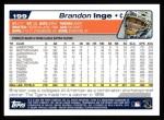 2004 Topps #199  Brandon Inge  Back Thumbnail