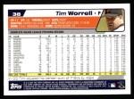 2004 Topps #38  Tim Worrell  Back Thumbnail