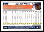 2004 Topps #414  Rondell White  Back Thumbnail