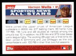 2004 Topps #360   -  Vernon Wells All-Star Back Thumbnail