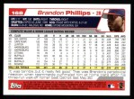 2004 Topps #168  Brandon Phillips  Back Thumbnail