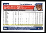2004 Topps #135  Tom Wilson  Back Thumbnail