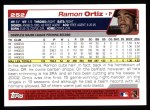 2004 Topps #252  Ramon Ortiz  Back Thumbnail