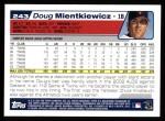 2004 Topps #243  Doug Mientkiewicz  Back Thumbnail