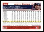 2004 Topps #82  Johnny Damon  Back Thumbnail