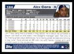 2004 Topps #134  Alex Cora  Back Thumbnail