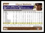 2004 Topps #253  Miguel Batista  Back Thumbnail