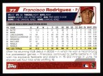 2004 Topps #77  Francisco Rodriguez  Back Thumbnail