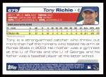 2004 Topps #679  Tony Richie  Back Thumbnail