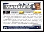 2004 Topps #286  Joe Torre  Back Thumbnail
