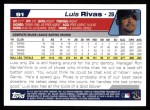 2004 Topps #91  Luis Rivas  Back Thumbnail