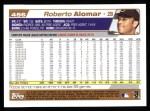 2004 Topps #456  Roberto Alomar  Back Thumbnail