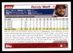 2004 Topps #222  Randy Wolf  Back Thumbnail