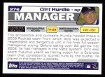 2004 Topps #276  Clint Hurdle  Back Thumbnail