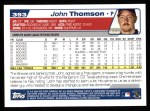 2004 Topps #393  John Thomson  Back Thumbnail