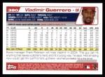 2004 Topps #380  Vladimir Guerrero  Back Thumbnail