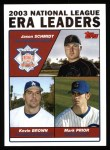 2004 Topps #347   -  Jason Schmidt / Kevin Brown / Mark Prior Leaders Front Thumbnail