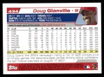 2004 Topps #434  Doug Glanville  Back Thumbnail