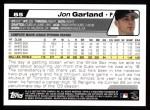 2004 Topps #85  Jon Garland  Back Thumbnail