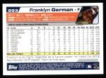 2004 Topps #593  Franklyn German  Back Thumbnail