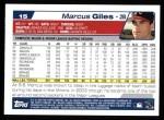 2004 Topps #15  Marcus Giles  Back Thumbnail