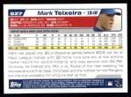2004 Topps #527  Mark Teixeira  Back Thumbnail