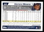2004 Topps #67  Mariano Rivera  Back Thumbnail