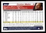 2004 Topps #261  Dustan Mohr  Back Thumbnail
