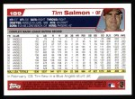 2004 Topps #189  Tim Salmon  Back Thumbnail