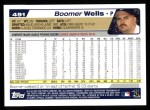 2004 Topps #491  David Wells  Back Thumbnail