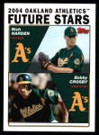 2004 Topps #329  Rich Harden / Bobby Crosby  Front Thumbnail