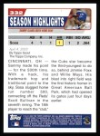 2004 Topps #332   -  Sammy Sosa  Highlights Back Thumbnail