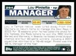 2004 Topps #294  Lou Piniella  Back Thumbnail