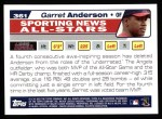 2004 Topps #361   -  Garret Anderson All-Star Back Thumbnail