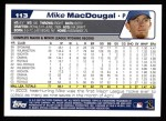 2004 Topps #113  Mike MacDougal  Back Thumbnail