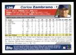 2004 Topps #136  Carlos Zambrano  Back Thumbnail