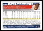 2004 Topps #264  Frank Catalanotto  Back Thumbnail