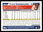 2004 Topps #264  Frank Catalanotto  Back Thumbnail