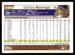 2004 Topps #429  Carlos Baerga  Back Thumbnail