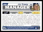 2004 Topps #281  Jim Tracy  Back Thumbnail