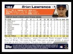 2004 Topps #184  Brian Lawrence  Back Thumbnail
