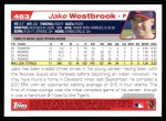 2004 Topps #483  Jake Westbrook  Back Thumbnail