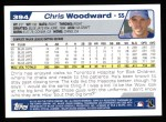 2004 Topps #394  Chris Woodward  Back Thumbnail