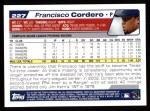 2004 Topps #227  Francisco Cordero  Back Thumbnail