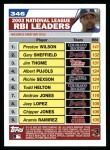 2004 Topps #346   -  Preston Wilson / Gary Sheffield / Jim Thome Leaders Back Thumbnail