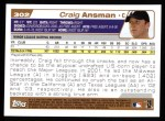 2004 Topps #302   -  Craig Ansman First Year Back Thumbnail