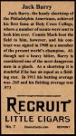 1912 T207 Reprint #7  Jack Barry  Back Thumbnail