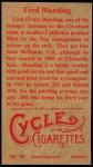1912 T207 Reprint  Fred Blanding   Back Thumbnail